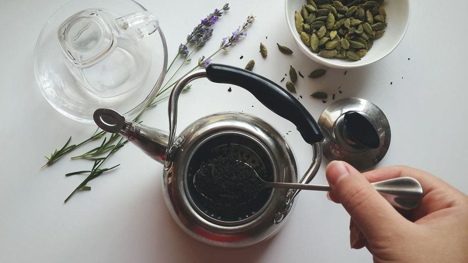 Making tea :) Atmosphere Close-up Composition Directly Above Things I Like Food Food And Drink From My Point Of View Hands Hands At Work Herbal High Angle View Holding Indoors  Metal Old-fashioned Organic Preparation  Refreshment Liquid Lunch Relaxing Spoon Still Life Table Tea