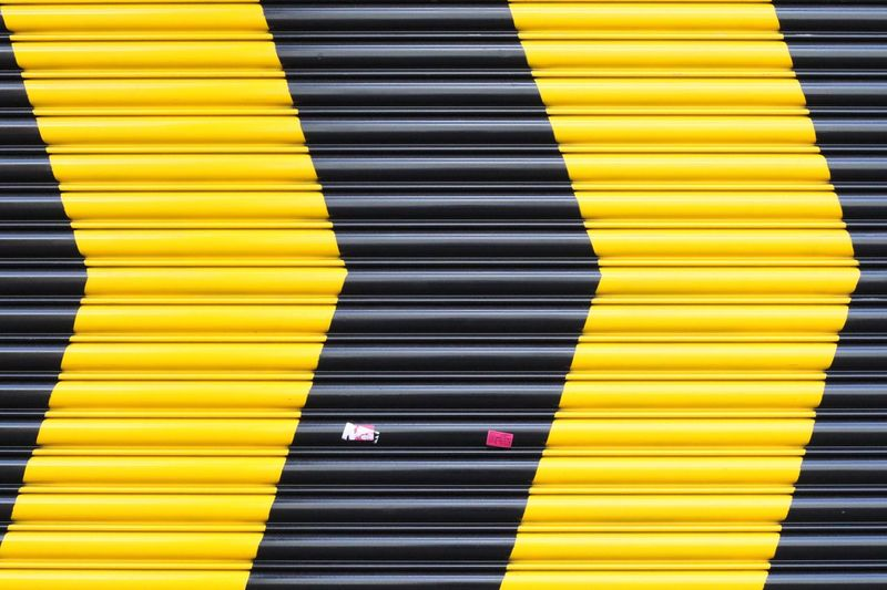 Full Frame Shot Of Striped Shutter