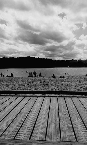 Cloud - Sky Water Lake Wood - Material Nature France Summer Vibes Landscape Nautical Vessel Black & White Sweet Moments France 🇫🇷 Dordogne Summer Travel