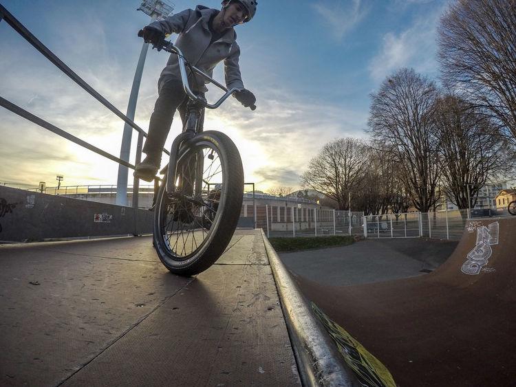 Shot 100% on Gopro hero 4 ! Bicycle Bike Bmx  City Fisheye Gopro Goprohero4 HDR HERO Maxxis One Person Outdoors Skill  Sky Stunt Sun Sunset Wheel Wide Angle