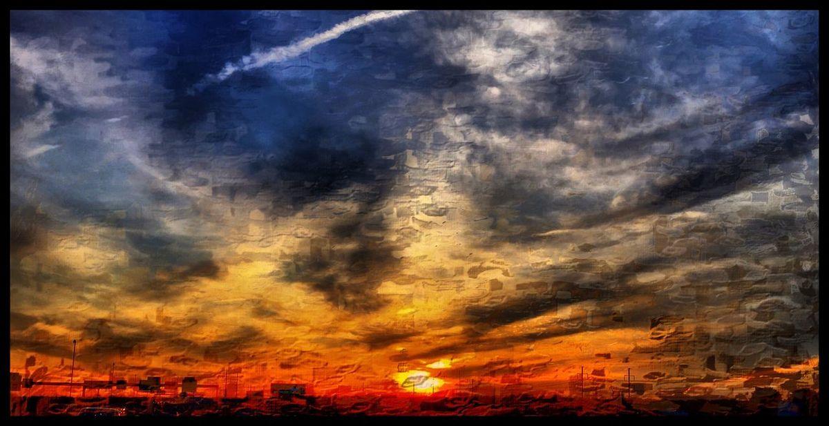 Sunset Mattroeartist Mattroe Digital Painting Digitalplayground IPhoneography Iphoneart I95S