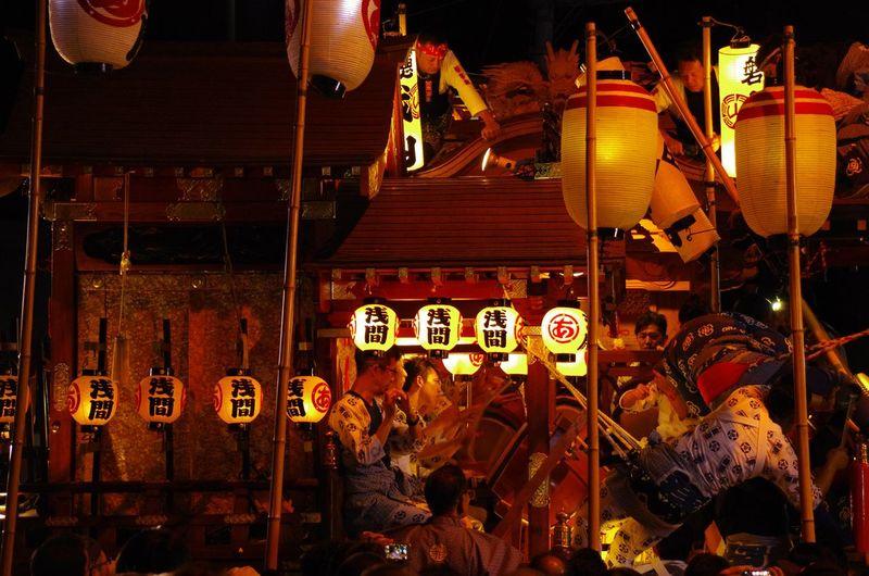 富士宮祭り Hanging