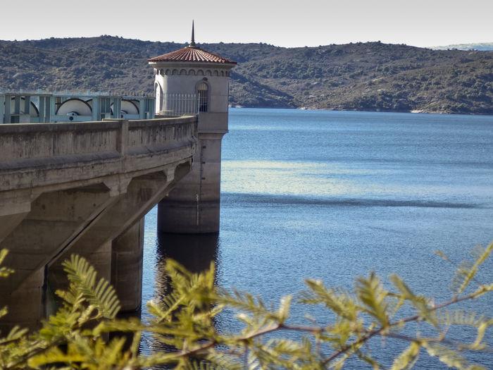 Dique la Viña Architecture Bridge Building Exterior Built Structure Dam Landscape Mountain Nature No People Outdoors Tower Water