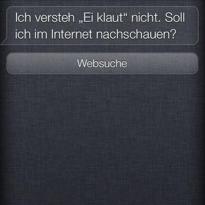 Ach, Siri...