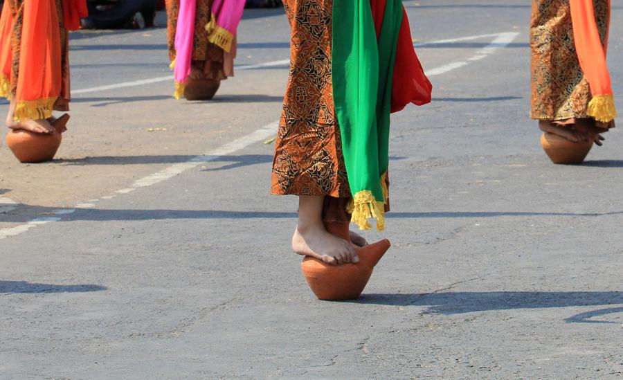 Traditional Folk Dance of Tari Buyung Cigugur west Java Arts Culture And Entertainment Cigugur Culture Dance Folk Dance Human Body Part INDONESIA Javanese Culture Kuningan Low Section Only Women Ritual Serentaun Street Sundanese Culture Tari Buyung Traditional Traditional Culture