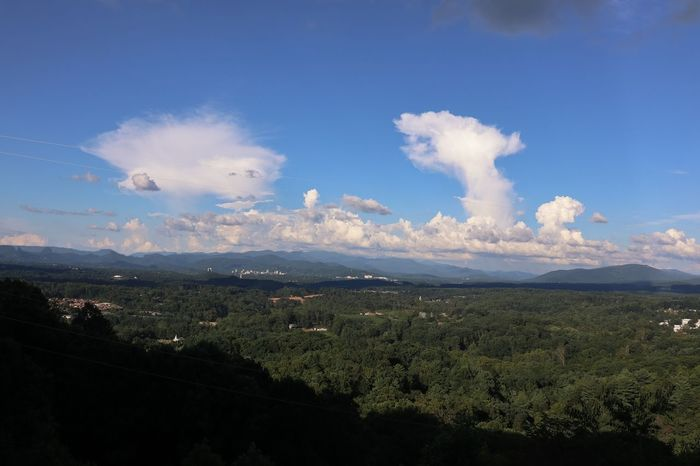 Cloud formations above the Smokies Sky Cloud - Sky Architecture City Environment Landscape Scenics - Nature Nature Tree Plant Tranquil Scene Beauty In Nature Built Structure Mountain Building Exterior No People Day Blue Cityscape Tranquility
