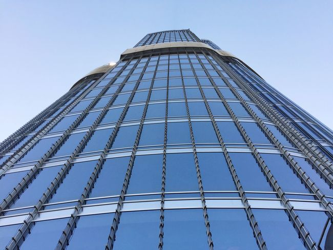 Glass - Material Burj Khalifa Dubai High View Blue Blue Wall Glass Glass Art Glass Reflection Tallest Building In The World Tallest Building Tallest Blue Sky EyeEm Best Shots Architecture Skyscraper Tower Clear Sky Office Building Outdoors Building Exterior Dubailife Dubai❤ United Arab Emirates