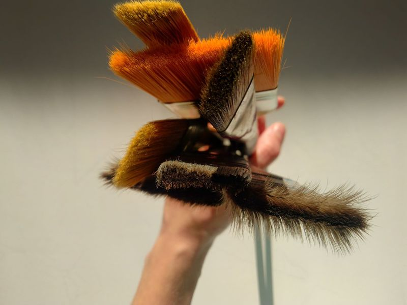 Paint Brush Flat Brush Art And Craft Craft Tools Painting Tools In Hand Variety Human Hand Close-up