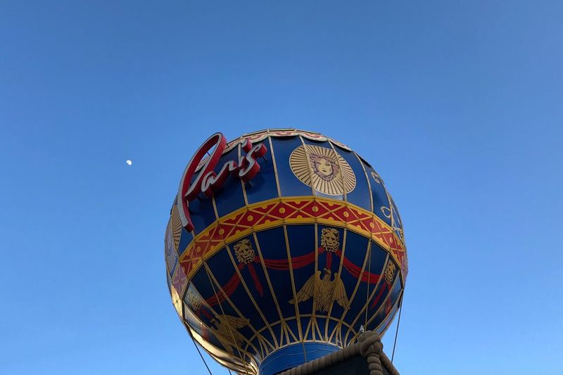 …strolling down the Strip. #Paris in #Vegas Vegas  Low Angle View Sky Blue Clear Sky