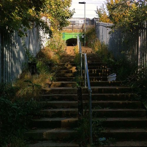 Underpass. Subway under the tracks, from Cromer Road Open Space to Victoria Recreation Ground. Steps Stairs IPSLow