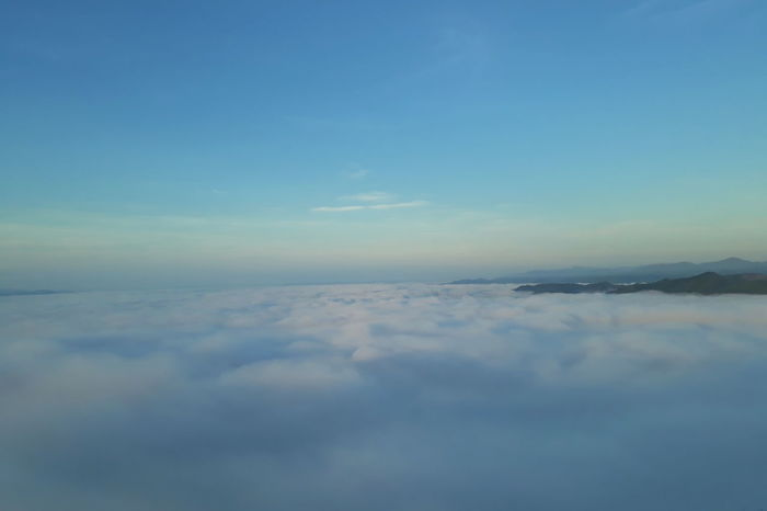 Above Aerial View Backgrounds Beauty In Nature Blue Cloud - Sky Cloudscape Copy Space Day Environment Fluffy Heaven Idyllic Meteorology Nature No People Outdoors Scenics - Nature Sky Softness Tranquil Scene Tranquility