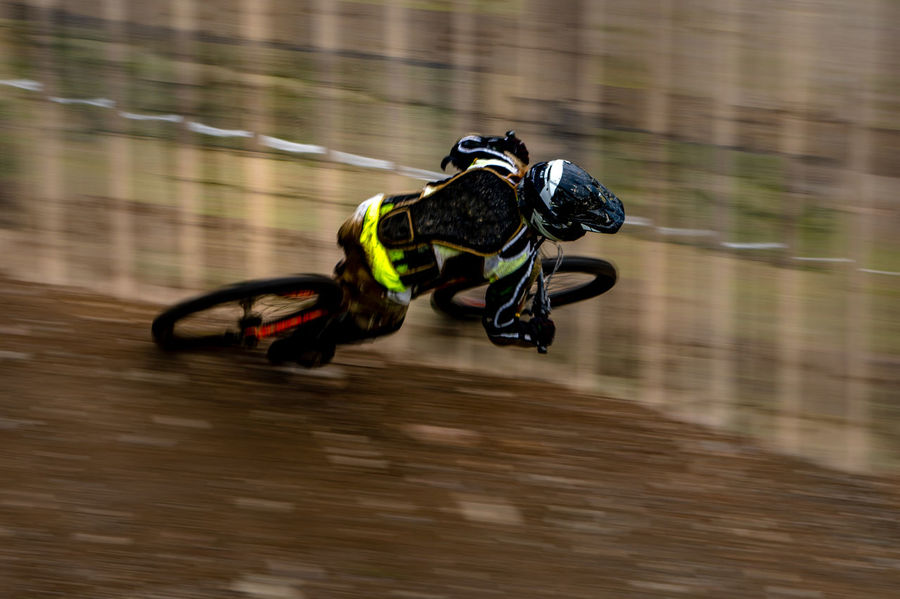 Enduro bike rider in the wall. Extreme Sports Sport Adventure Competition Headwear Sportsman Exercising Motion Speed Sports Track Mountain Bike Pedal Pure Riding Handlebar Biker Uphill Bicycle Bicycle Rack Stunt Cycling Helmet Cycling Racing Bicycle