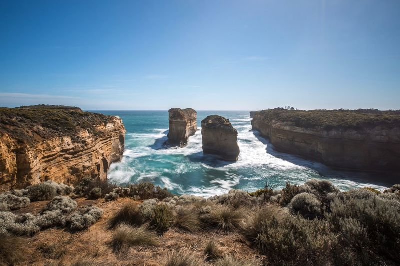 Greatoceanroad Landscape Australia Melancholic Landscapes Sea Water Sky Land Beach Rock Scenics - Nature Horizon Over Water Rock - Object Solid Clear Sky No People
