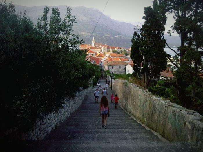 Summer Croatia Korčula Korcula Island Korculaoldtown Stairs Stairs To Heaven Staircase Staircase To Heaven Stone Stone Material Stony