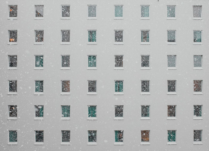 Urban Geometry Architecture Building Exterior Built Structure Full Frame No People Snow Snowing Texture