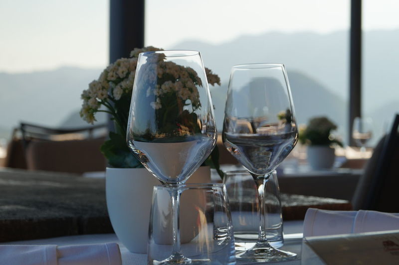 Feeling Inspired Focus On ForegroundOutdoors Journey Idyllic Food And Drink From My Point Of View Glass - Material Indoors  Love Montains    My EyeEm Gallery No People Ready-to-eat Still Life Table Temptation The Best Of Me Transparent Restaurant View Restaurant Scene Clear Sky Travel