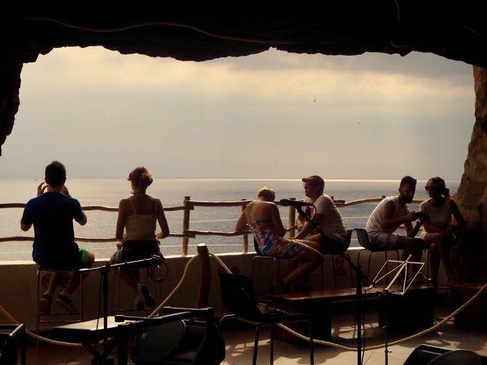 Sky Water Sea Real People Group Of People Men Nature Lifestyles People Standing Outdoors