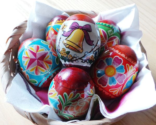 Christian Happy Holiday Decoration Decorated Colorful Painted Eggs... Easter Holidays Easter Egg Easter Easter Eggs Easter Ready Easter Decoration Easter Is Coming Soon Easter