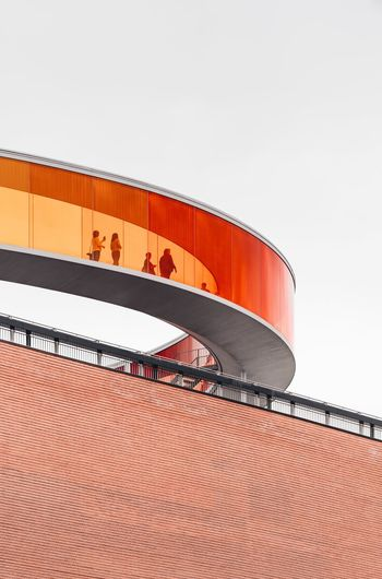 ARoS Aarhus City Of Culture Aarhus, Denmark ARos Art Museum Sky Clear Sky Copy Space Built Structure Architecture Nature No People Day Building Exterior Red Outdoors Low Angle View Pattern Roof Industry Orange Color Travel EyeEmNewHere EyeEmNewHere