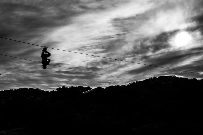 Lavalleja, Uruguay Minas Uruguay Adventure Adventure Sports B&w Black And White Cloud - Sky Day Hanging Low Angle View Outdoors Real People Salto Del Penitente Shillouette Sky Sports