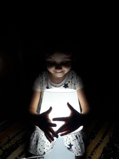 Magical lamp and the three Wishes !😉 Craziness Love Innocence Child Dreams Wishes Magical Lamps Dreams Niece 💕 Niece  Niece & Auntie <3 Human Hand Black Background Dark