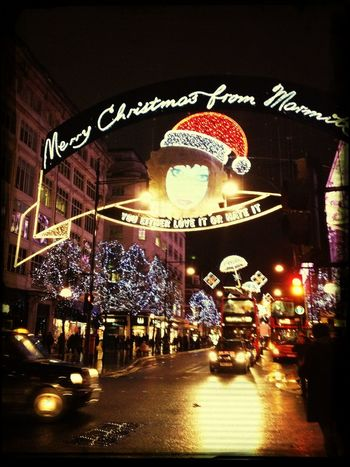 Shopping Oxford St Christmas Light