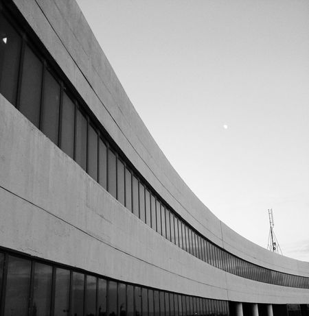Architecture Built Structure Outdoors Building Exterior No People Modern University Building Building Black And White Black & White Jordan Middle East