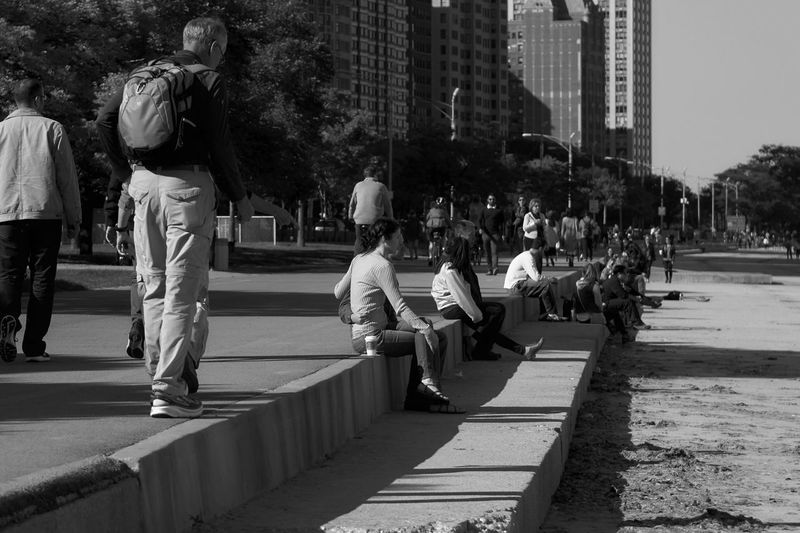 along the lakefront, the day before the Chicago Marathon Check This Out City City Life Lakefront Large Group Of People Leisure Activity Lifestyles Outdoors Togetherness Urban Landscape Urban Lifestyle