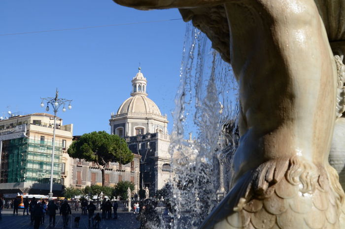 Architecture Building Exterior Catania, Sicily City Clear Sky Day Fontana Piazza Duomo Di Catania
