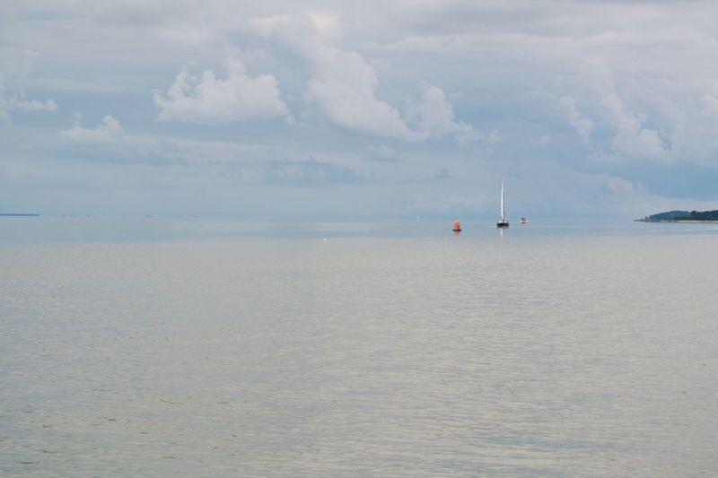 Water Sea Beach Nautical Vessel Sand Low Tide Blue Sky Horizon Over Water Landscape Seascape Coastal Feature Tranquil Scene Wave