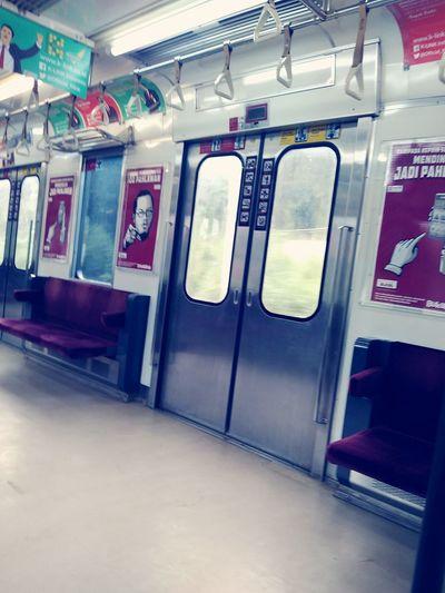 In comutter train
