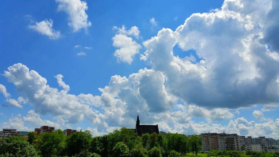 In the sky Urban Mix Blue Sky city