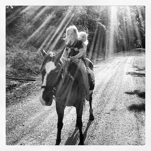 Horserideinthesunlight Happygirls Madetheirday Innocenceandnaturesbeauty sunlight