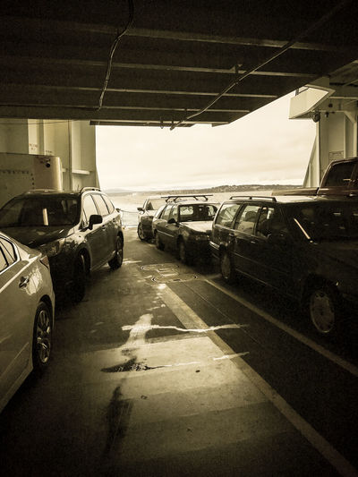 Car Day Driving Ferryboat IPhone 7 Plus IPhoneography Land Vehicle Mode Of Transport No People Outdoors Road Stationary Transportation Washington State Ferries