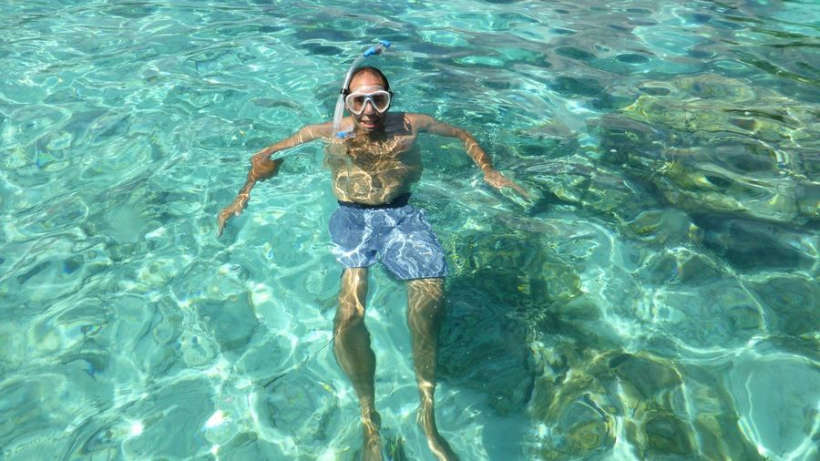 EyeEm Nature Lover EyeEmNewHere EyeEm Best Shots South Pacific Island Ocean Paradise Snorkel Mask Reef Travel Natural Pool Water Leisure Activity One Person Waterfront Real People Swimming Pool Lifestyles Swimming Sea Outdoors Turquoise Colored Nature Pool