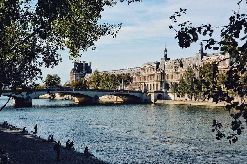 Paris on another frame. Historical Building Paris Bridge Water Bridge - Man Made Structure Architecture Built Structure Connection Transportation River Building Exterior Travel Destinations Arch Bridge City