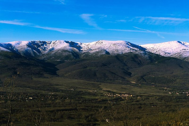 Sierra de Guadarrama SPAIN Madrid La Morcuera Guadarrama Cold Winter Snow Mountain Nature Scenics Landscape Mountain Range Tranquil Scene Shades Of Winter Beauty In Nature Tranquility Day Sky No People Outdoors Blue Snowcapped Mountain Shades Of Winter