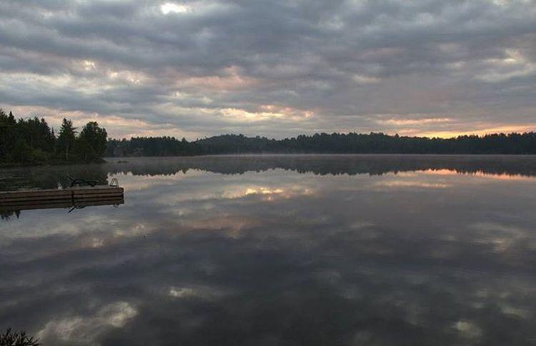 Cottagelife Ontario Sunrise Mirrorreflection