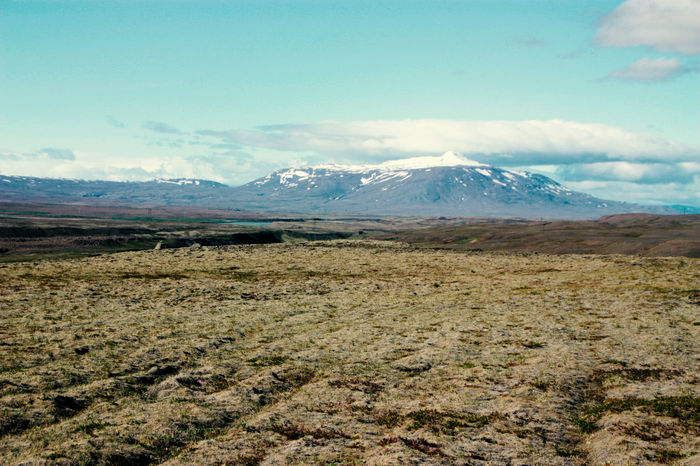 The wilderness of the icelandic highlands Iceland Rough Nature Beauty In Nature Cloud - Sky Day Hekla Landscape Moss Mountain Mountain Range Nature No People Outdoors Scenery Scenics Sky Snow Snowcapped Mountain Water Wide Open Spaces Wilderness