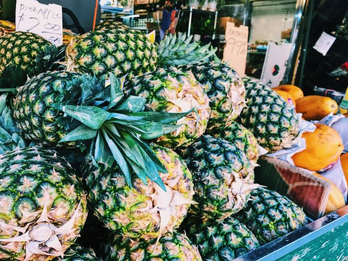Pineapples For Sale At Market
