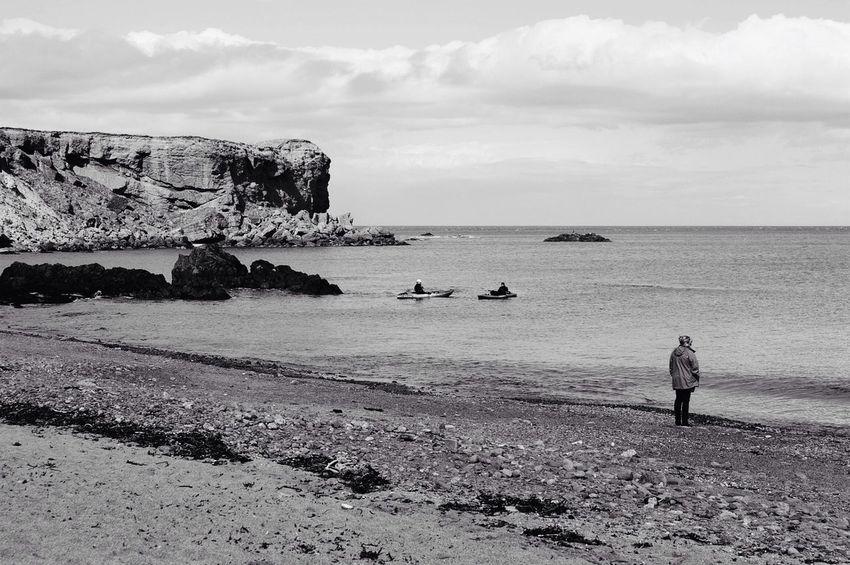 Eyemouth Sea Beach Black And White