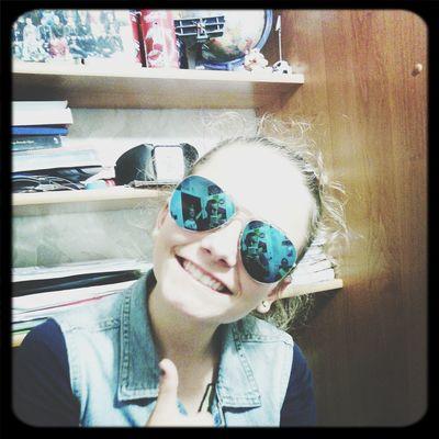Hello everyone!!! Blue sunglasses :* i love it! *.* Selfie Portrait Hello World People Beauty