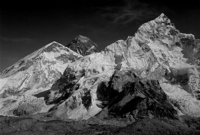 Top of the Everest (centre left) and Mount Nuptse in the Khumbu Himalaya of Nepal. Adventure Travel Awe Awesome Everest Base Camp Trek Everest Region Everest Trail Hiking Himalaya Himalayan Range Himalayas Khumbu Himalaya Landscape Majestic Mount Everest Mount Nuptse Mountaineering Mountains Mt Everest Nature Nepal No People Scenics Spectacular Travel Destinations Trekking