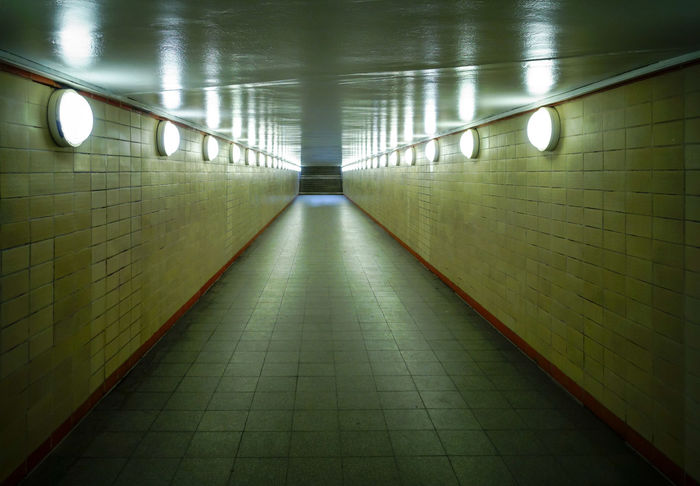 Architecture Electric Light Fußgängertunnel Illuminated Indoors  No People No People, Pedestrian Tunnel Pedestrian Walkway The Way Forward Tile Tiled Wall Tunnel Underpass