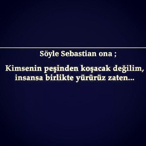 👍✌Söyle Sebastian Koşamam Instagram Like4like