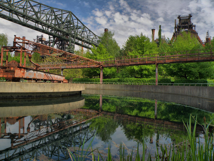 Landschaftspark Duisburg-nord Manual Hdr HDR Industrial #mirror Manualhdr Industry Urbexphotography Water Tree Reflection Sky