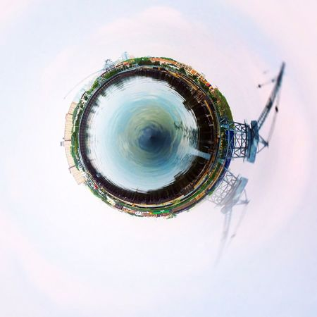 Industrial Brooklyn Tiny Planet
