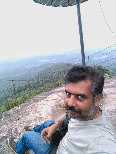 Selfie from a hill top Portrait Adults Only Relaxation One Person Front View Leisure Activity Headshot People Adult Day Outdoors Only Men Vacations Close-up Smiling Nature Sky One Man Only Young Adult Hilltop Hills And Valleys Mountain Self Portrait Selfıe Traveling Photography