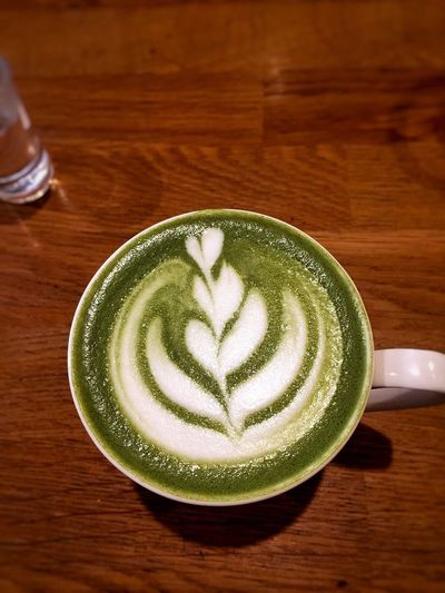 Art Is Everywhere Green Tea Latte Taste Of Life Cup Of Joy ⛅☕ Tea Break ..life ...work..money Social Behaviour Art Is Everywhere