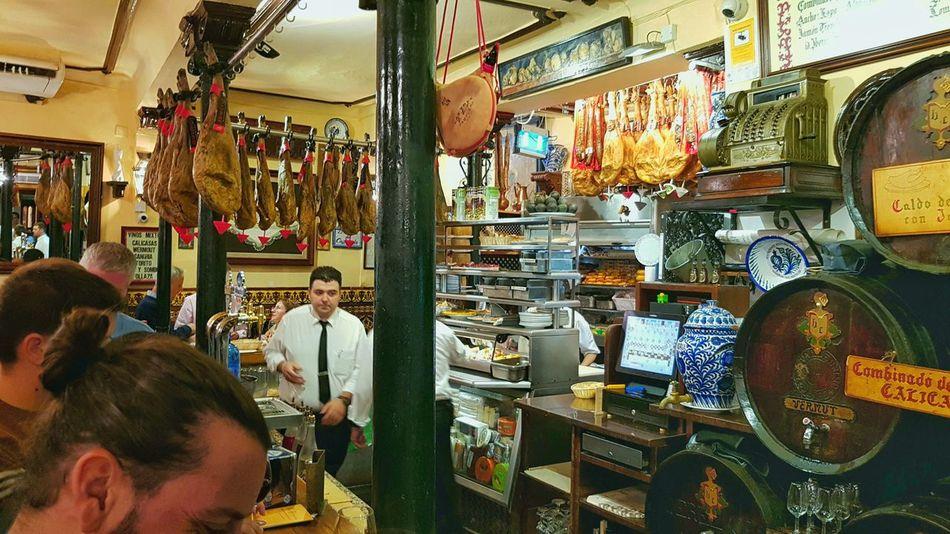Indoors  Travel Photography Travel Granada SPAIN Spanish Food And Drink Bar Bodega Tappas Food Evening Vine 🍷 Wine Siteseeing City Tourist Destination Taste Evening Visit Site Town People